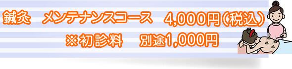 美容鍼灸 基本コース8500円(税別)